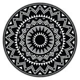 Tribal folk Aztec geometric pattern in circle Stock Photography