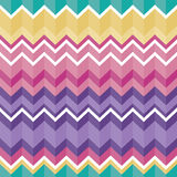 Tribal folk aztec seamless texture, pattern with zig zag. Vector seamless aztec ornament, ethnic pattern in pink, purple, yellow, turquoise Stock Photo