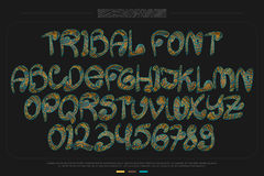 Tribal font Royalty Free Stock Photo
