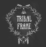 Tribal frame with a deer Stock Photos
