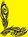 Tribal frame on yellow Royalty Free Stock Photo