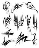Tribal Frills. Tribal Tattoo Black Lines and swirls stock illustration