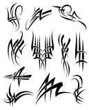 Tribal Frills. Tribal Tattoo Black Lines and swirls Stock Photography