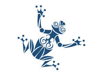 Tribal frog. A tribal frog vector illusrtation Stock Images