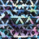 Tribal galaxy seamless pattern. Stock Photo