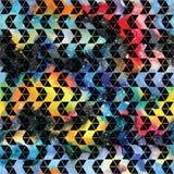 Tribal galaxy seamless pattern. Royalty Free Stock Photo