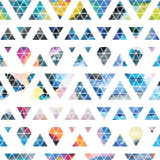 Tribal galaxy seamless pattern. Royalty Free Stock Images