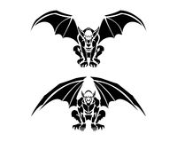 Tribal Gargoyle Tattoo Illustrations Royalty Free Stock Photos