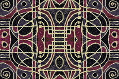 Tribal Geometric Art Pattern Stock Images