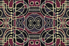 Tribal Geometric Art Pattern Stock Photography