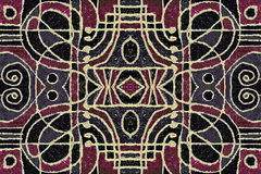 Tribal Geometric Art Pattern Stock Image