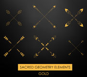 Tribal geometric elements. Tribal minimalism. Royalty Free Stock Photography