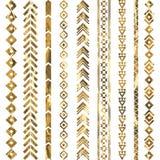 Tribal geometric gold pattern Royalty Free Stock Photos