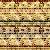 Tribal geometric pattern on chevrons background Royalty Free Stock Images