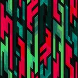Tribal geometric seamless pattern with grunge effect Stock Photos