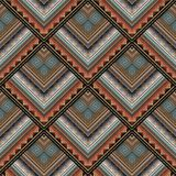 Tribal geometric seamless pattern. Vector greek key meanders bac. Kground. Ornate wallpapers design. Tracery ethnic ornaments. 3d ornamental meander frames Royalty Free Stock Photo
