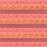 Tribal geometric striped pattern Stock Image