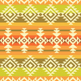 Tribal geometric striped pattern Royalty Free Stock Photography