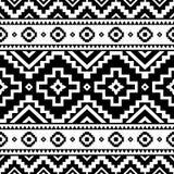 Tribal geometric striped seamless pattern stock illustration