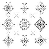Tribal geometric symbols. Stock Photos