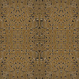 Tribal Geometric Symbols Seamless Pattern Stock Image