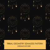 Tribal geometry seamless pattern. Dreamcatcher Royalty Free Stock Photos