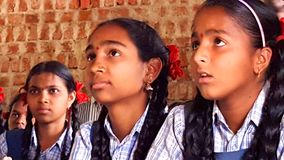 Tribal Girl Students in India Stock Photos