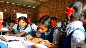 Tribal Girl Students in India Royalty Free Stock Images