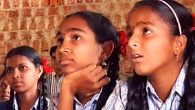 Tribal Girl Students in India Royalty Free Stock Photo