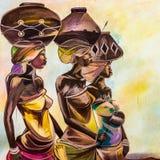 Tribal girls Stock Photo