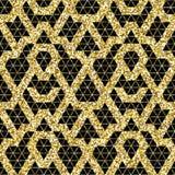 Tribal glitter golden seamless pattern. Stock Photo