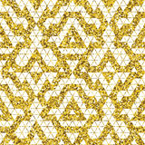 Tribal glitter golden seamless pattern. Royalty Free Stock Photo