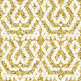Tribal glitter golden seamless pattern. Stock Photo