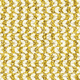 Tribal glitter golden seamless pattern. Stock Photos