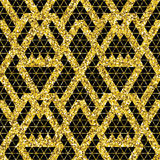 Tribal glitter golden seamless pattern. Stock Photography