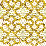 Tribal glitter golden seamless pattern. Royalty Free Stock Photo