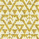 Tribal glitter golden seamless pattern. Royalty Free Stock Image