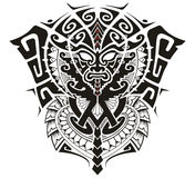 Tribal God with Alpha and Omega symbol vector illustration Stock Image