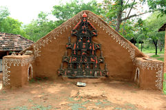 Tribal God at Shilpgram, Udaipur Stock Images