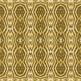 Tribal Golden Seamless Pattern Stock Images