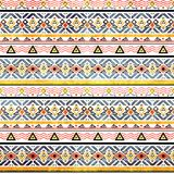 Tribal grunge ethno folk pattern in retro Stock Images