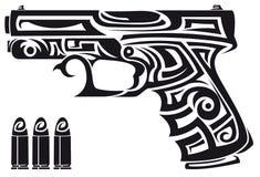 Tribal gun Stock Photography