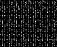 Tribal Hand Drawn arrow seamless pattern. Royalty Free Stock Photos
