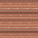 Tribal hand drawn background, ethic doodle pattern. Royalty Free Stock Image