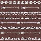 Tribal hand drawn background, ethic doodle pattern. Royalty Free Stock Photography