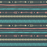 Tribal hand drawn background, ethic doodle pattern. Stock Photos