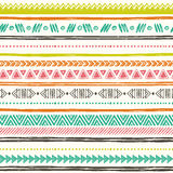 Tribal hand drawn background, ethic doodle pattern. Stock Image