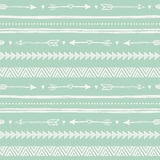 Tribal hand drawn background, ethic doodle pattern. Stock Photo