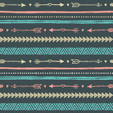 Tribal hand drawn background, ethic doodle pattern. Stock Images