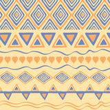 Tribal hand drawn background, ethic doodle pattern. Geometric borders. Hand drawn abstract backdrop. Wallpaper for pattern fills, Stock Image